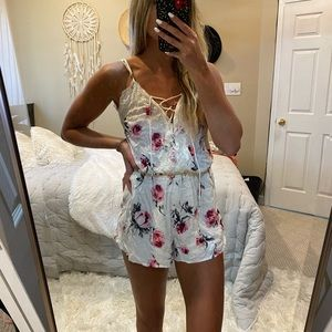 Kendall and Kylie white floral romper